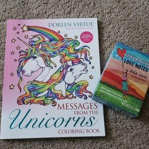 Unicorn coloring book and Affirmation Love Notes